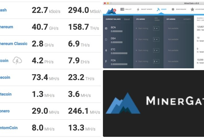 minergate screenshot